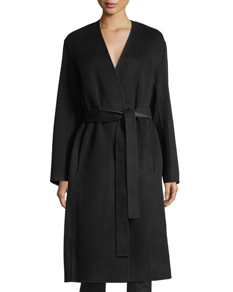 Reversible Belted Wool-Cashmere Coat