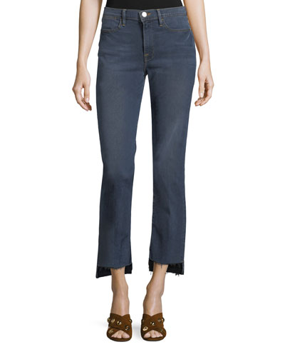 Le High Straight-Leg Released-Hem Jeans