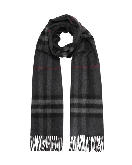 Burberry London Men's Cashmere Classic Check Scarf