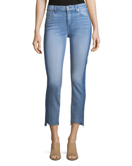 Roxanne Ankle Jeans With Side Shadow Seam in Bright Bristol