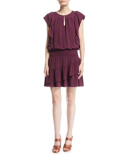 Medena Sleeveless Ruffled Dress