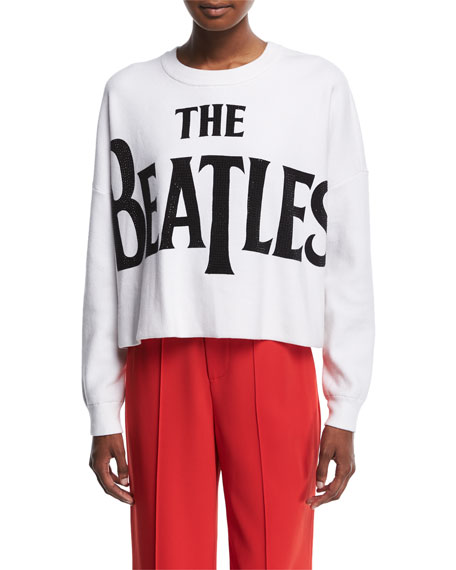 Alice + Olivia Quintin Cropped Boxy Pullover with