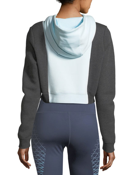 Rally Cropped Colorblocked Athletic Hoodie