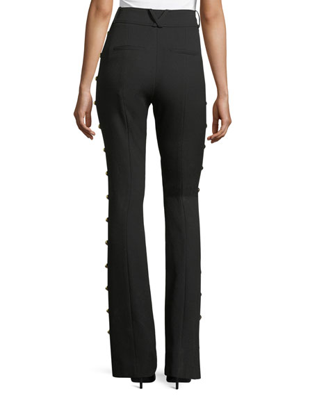 Lennox Side-Stud Flared Trousers