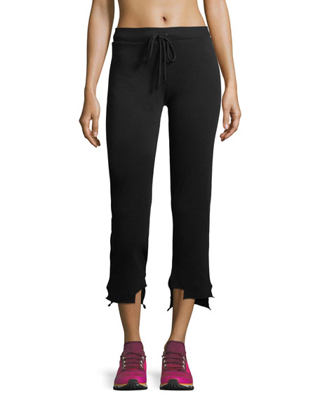 Terry Slub High-Low Jogger Pants