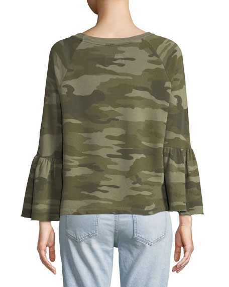 The Ruffle-Sleeve Cotton Sweatshirt