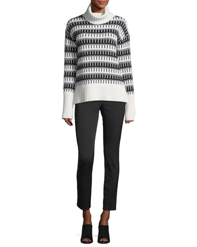 Wyndora J. Charmant Wool-Cashmere Sweater