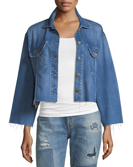 Frida Deconstructed Cropped Denim Jacket