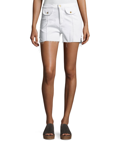 Carrie High-Rise Denim Shorts