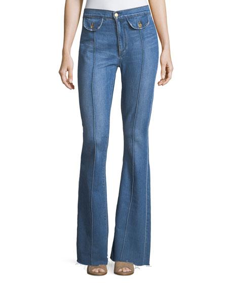 Acynetic Roxy High-Rise Flared-Leg Jeans