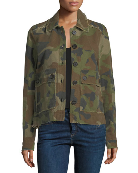 Mercer Camo Army Jacket with Necktie