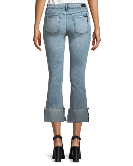Duchess Mid-Rise Flared-Leg Jeans with Cuff