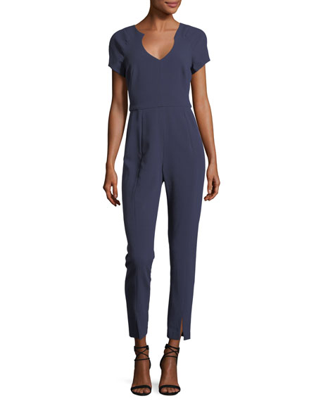 Gypsy Rose Short-Sleeve V-Neck Jumpsuit