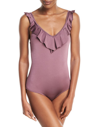 Elegance One-Piece Swimsuit with Ruffled Frills