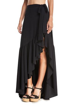 Chiara Boni La Petite Robe Iggy Ruffle Wrap Skirt