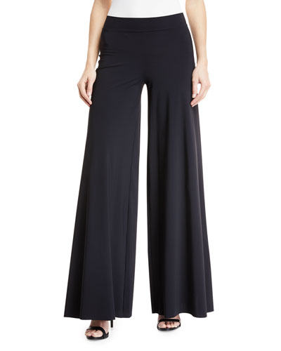 Skyla Wide-Leg Jersey Coverup Pants