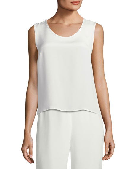 Silk Crepe Tank Top
