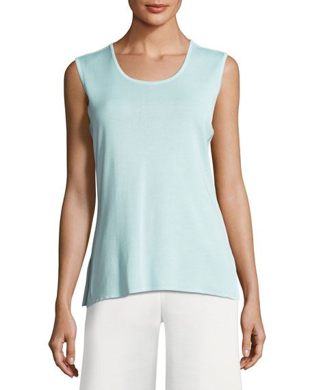 Misook Scoop-Neck Tank, Mint
