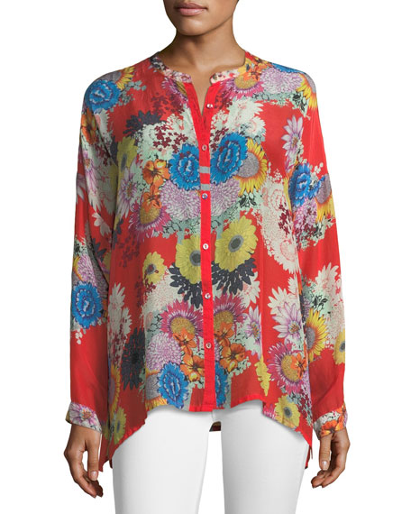 Mishka Printed Relaxed Tunic, Plus Size