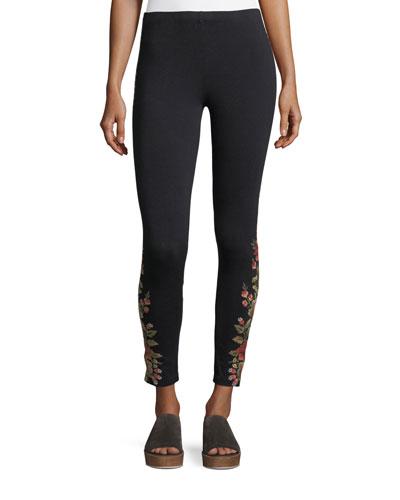 Libbie Embroidered Leggings
