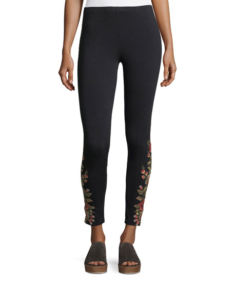 Johnny Was Libbie Embroidered Leggings