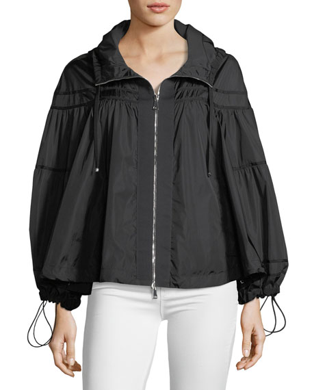 Moncler Lapis Topper Jacket w/ Hood