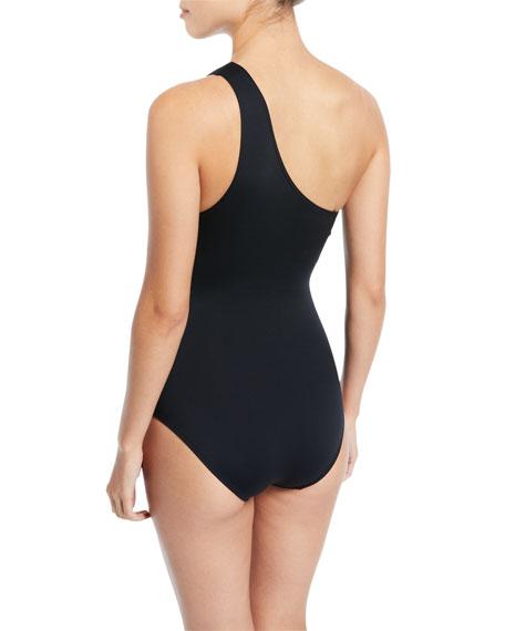 Coastal Twist Solids One-Shoulder One-Piece Swimsuit