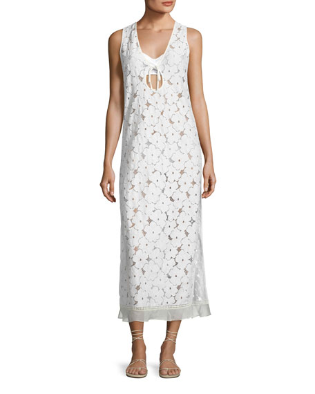 Kisuii Orli Lace Maxi Coverup Dress