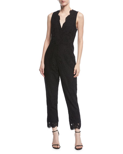 Evita Sleeveless Straight-Leg Jumpsuit