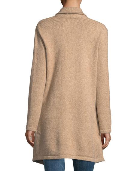 Sahar Open-Front Long-Sleeve Cotton-Blend Cardigan