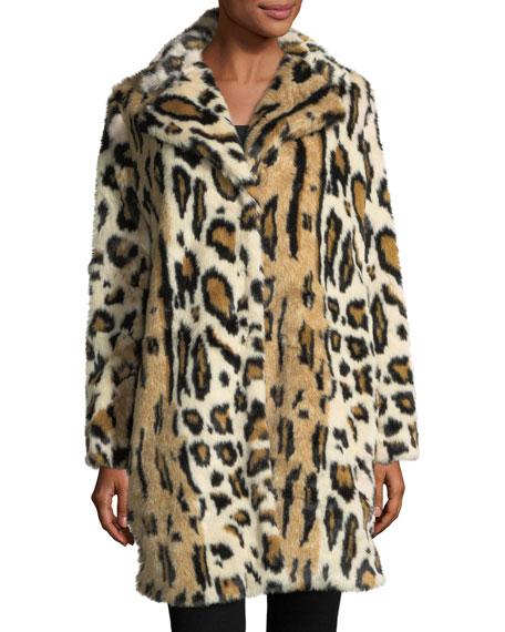 Abeni Leopard-Print Faux-Fur Coat
