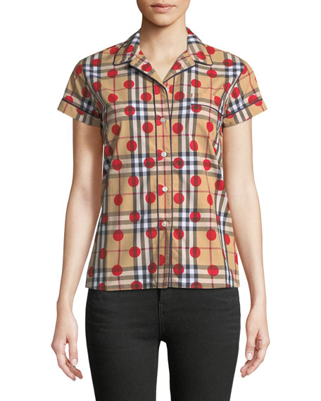 Burberry Vireo Dot-Check Shirt
