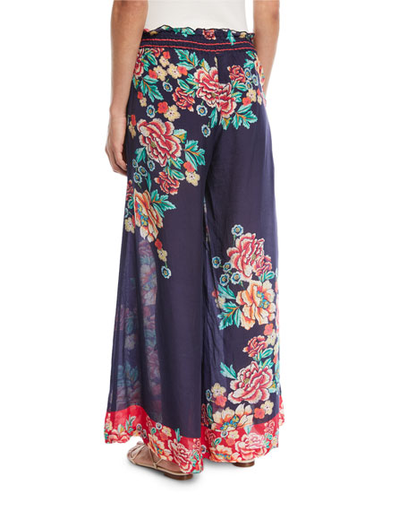 Rosey Georgette Wide-Leg Pants, Plus Size