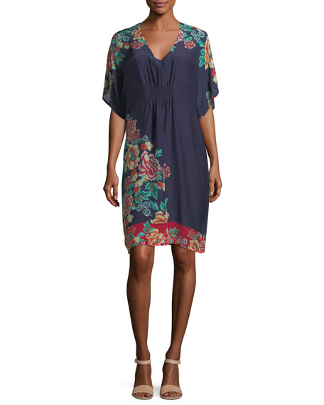 Johnny Was Charmrose Printed Tunic Dress