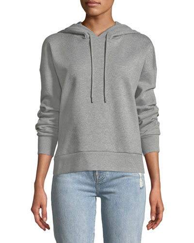 Embroidered Logo-Hooded Pullover Sweatshirt