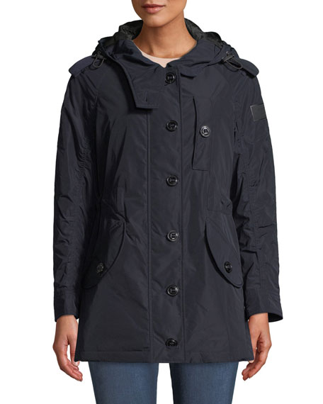 Burberry Hailmere Belted Rain Parka