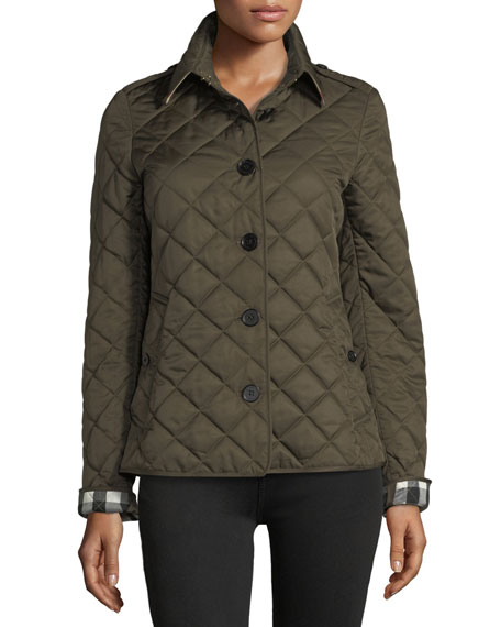 Frankby Quilted Jacket, Dark Olive