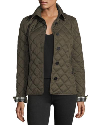 Frankby Quilted Jacket, Dark Olive