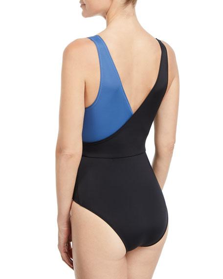 The Ballerina Colorblocked One-Piece Swimsuit