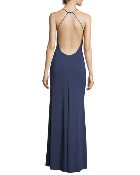 Victoria Sleeveless Open Buckle-Back Gown
