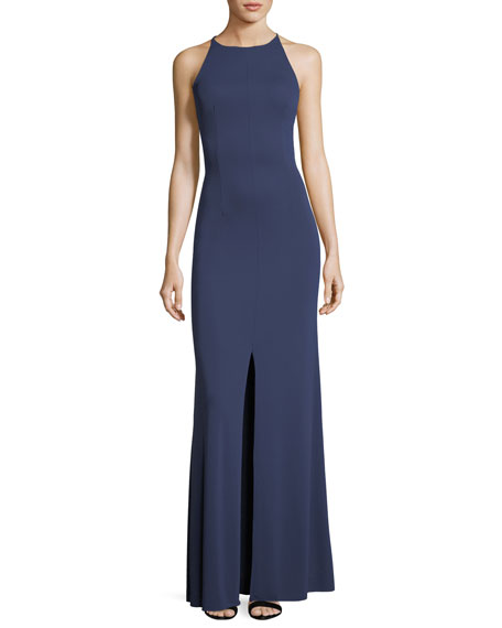 Maria Bianca Nero Victoria Sleeveless Open Buckle-Back Gown