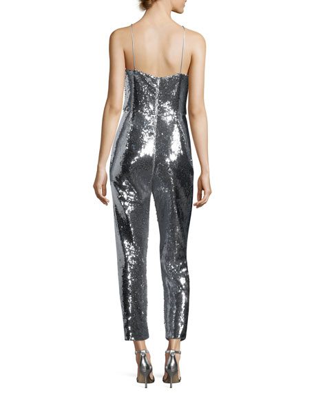 Delatorre Sequin Straight-Leg Jumpsuit