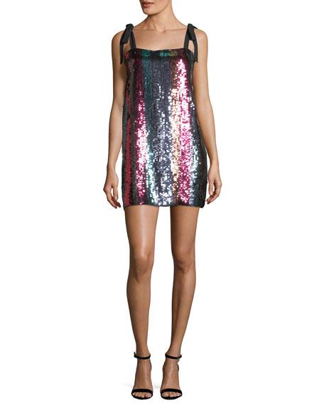 Erykah Sleeveless Striped Sequin Dress