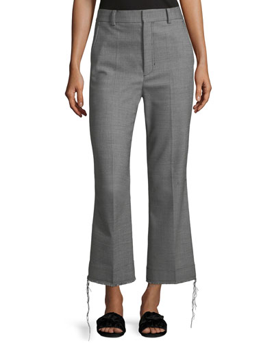 Birdseye Wool Suiting Pants
