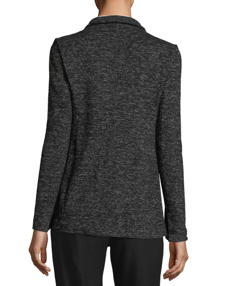 Speckle Cotton-Blend Blazer