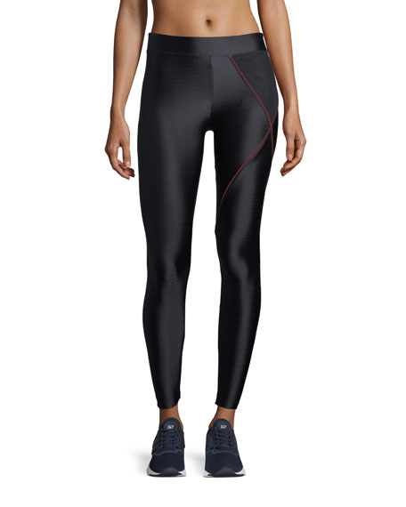 Knight Full-Length Power-Mesh Compression Leggings