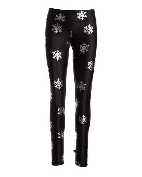 Snowflake Foil Full-Length Performance Leggings