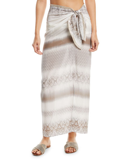Sarong Tie-Waist Long Skirt