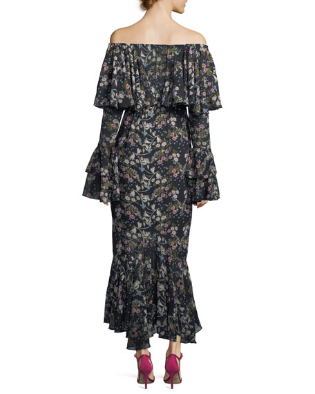 Day Dreamer Off-the-Shoulder Floral-Print Maxi Dress