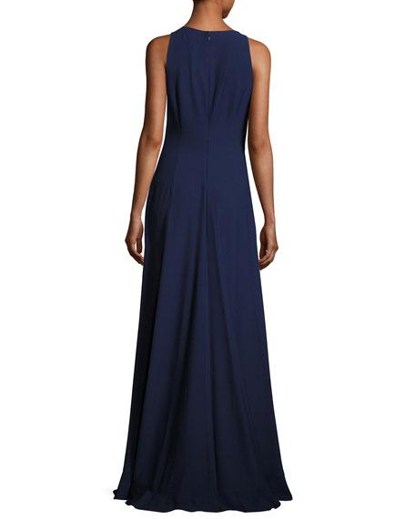 Embellished Lace Halter Gown, Royal